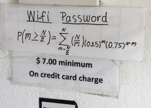 想用免费WiFi先做数学题?美国餐厅耍花招难倒网友