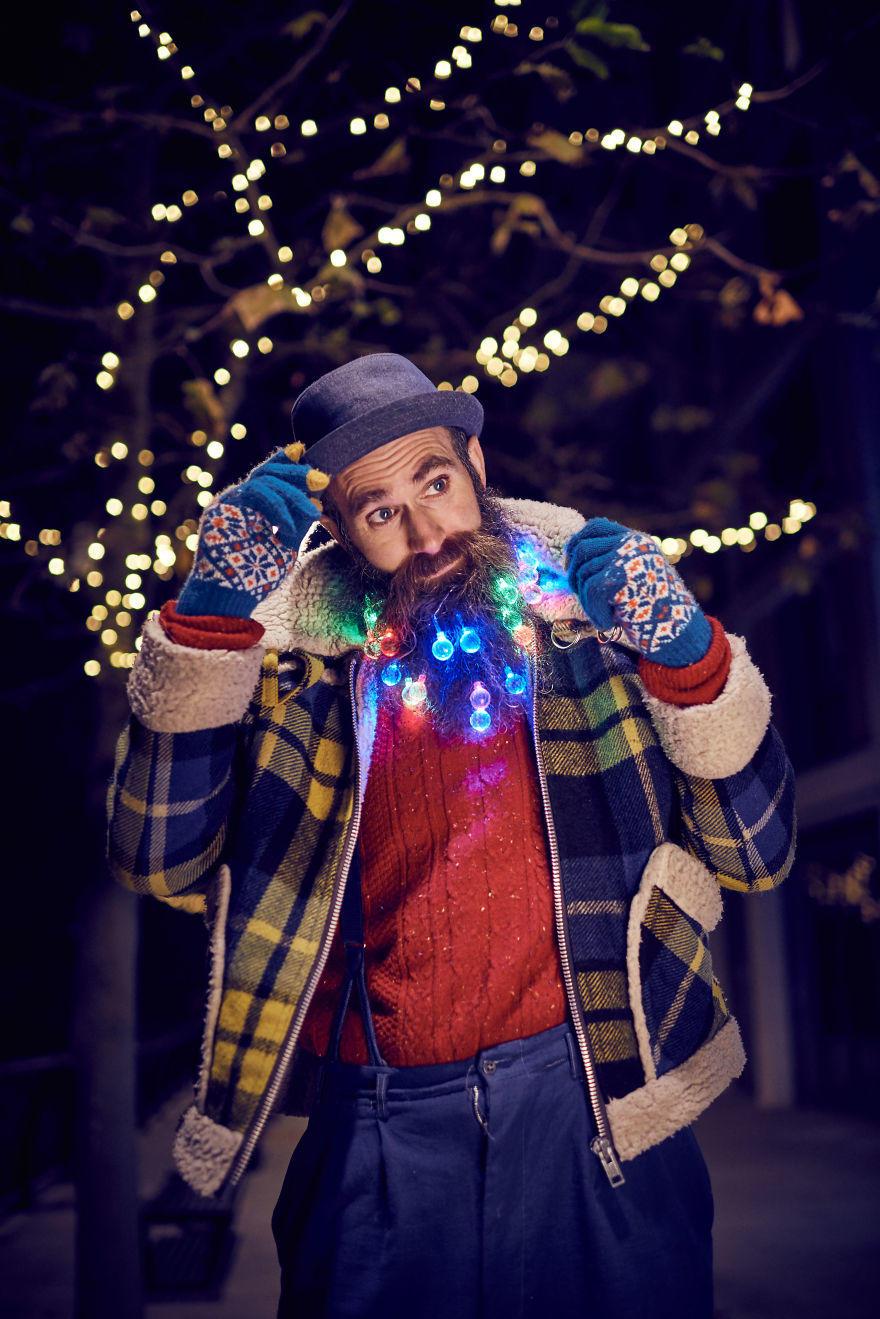 今年圣诞,腐国人把心思都花在胡子上了!